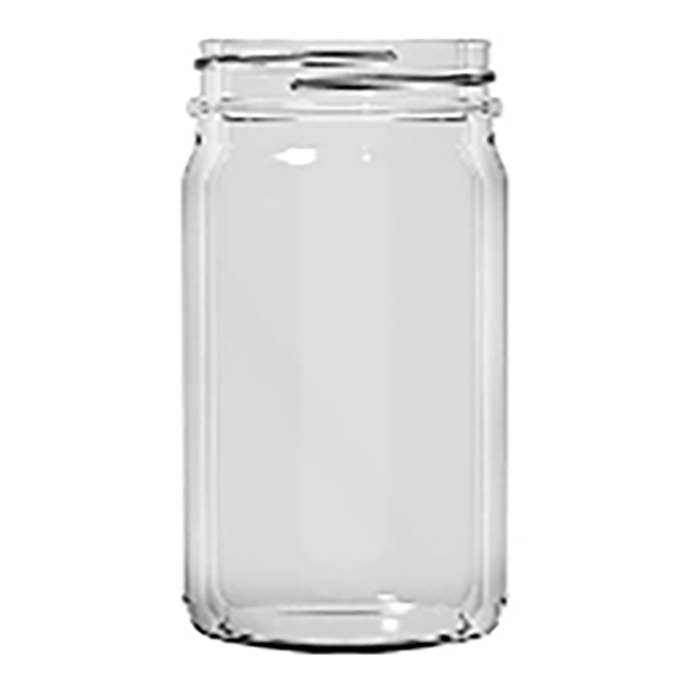 8 oz A0008-01  Smooth Sided 58CT Economy Mayo Jelly Jars 12 PK