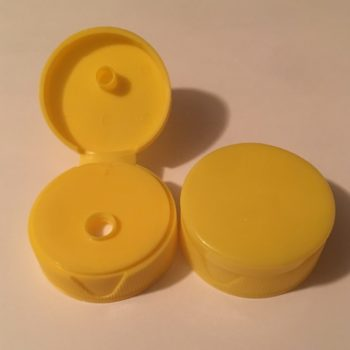 38CT Flip Top Lined Yellow plastic  250 Pack