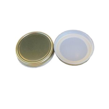 58CT STK BD Gold Metal Plastisol Lid 2000 count (Buy-the-Case)
