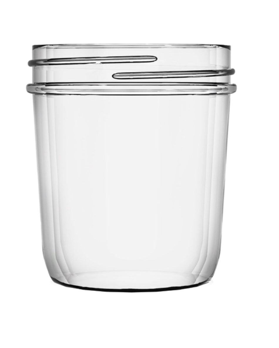 8 oz A0008-12  70-450 Smooth Sided Tapered Jelly Jar 12 PK