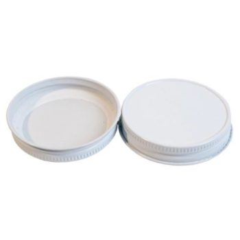 58CT STK BD White Metal Plastisol Lid 2000 count (Buy-the-Case)