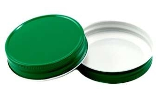70G BTS Green/White Metal Lined  Plastisol Button 100 Pack