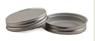 38CT Gold/White Metal Plastisol Lid Minimum Order 500 Count