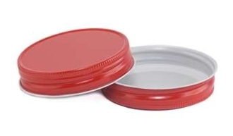 70G BTS DR Red/white Metal Lined  Plastisol 100 Pack